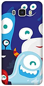 The Racoon Lean printed designer hard back mobile phone case cover for Samsung Galaxy J7 (2016). (Monster Cl)
