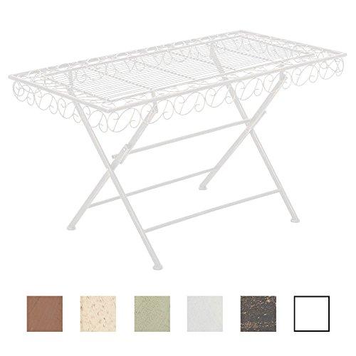 CLP Eisentisch Josefa im Jugendstil I Robuster Gartentisch mit kunstvollen Verzierungen I erhältlich Weiß