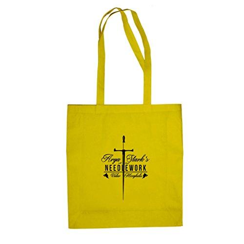 GoT: Needlework - Stofftasche / Beutel Gelb