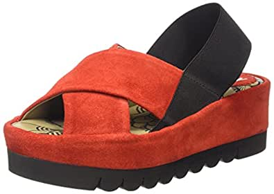 Fly London  BREZ637FLY, Sandales femme - Rouge - Red (Street Red), 37