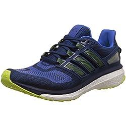adidas Energy Boost 3, Zapatillas de Running Hombre, Azul (Blue/Solar Yellow/Mystery Blue), 44