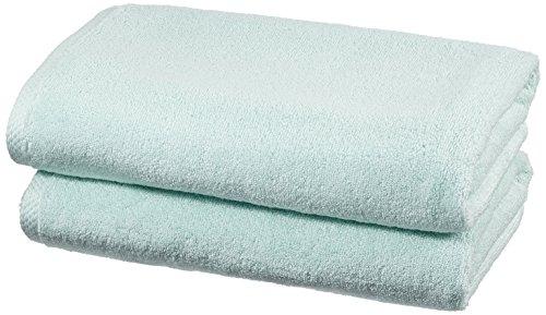 Amazonbasics - set di asciugamani ad asciugatura rapida, 2 pezzi, 2 teli bagno - blu ghiaccio