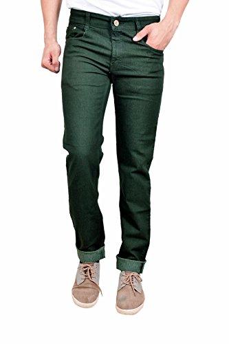 Studio Nexx Men's Denim Regular Fit Jeans (Dark Green, Size - 34)