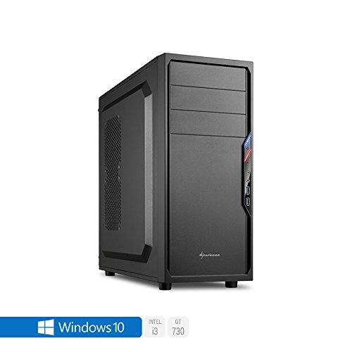Sedatech PC Gamer Casual Intel i3-7100 2x 3.90Ghz, Geforce GT730, 8Go RAM DDR4 2133Mhz, 1To HDD, 120Go SSD, USB 3.0, Full HD 1080p, DirectX 11, Alim 80+. Unité centrale avec Windows 10 64 Bit