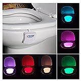 Badezimmer WC-Sitz-Sensor-Leuchten zwei Modi mit 8 Farbwechsel -Sensor-LED Washroom passt in jede Toilette