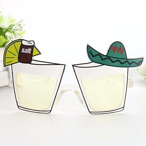 SUNVISA Lustige Cocktail Tasse Form kreativ, Oktoberfestbrille lustige Gläser Umweltschutz, komfortable Party - Kreative Familien Motto Kostüm