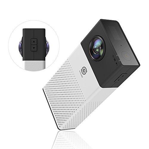 Andoer Insta360 leichte, kompakte Mini Panorama Panoramakamera 4K HD Video...
