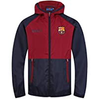 FCB FC Barcelona - Chaqueta Cortavientos Oficial - para niño - Impermeable  - Azul Marino  8dabca73ed7