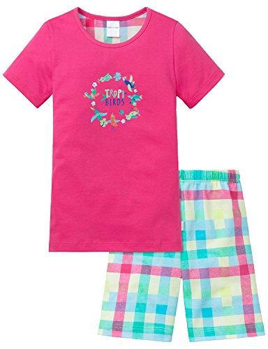 Schiesser Mädchen Zweiteiliger Kids Schlafanzug Kurz, Rot (Pink 504), 116 (Kids Für Schlafanzug)