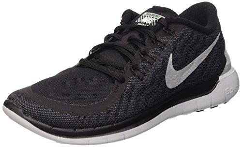 Nike Free 5.0 Flash, Chaussures de course homme Noir (Schwarz (Blk/Rflct Slvr-Cl Gry-Pr Pltnm 001))