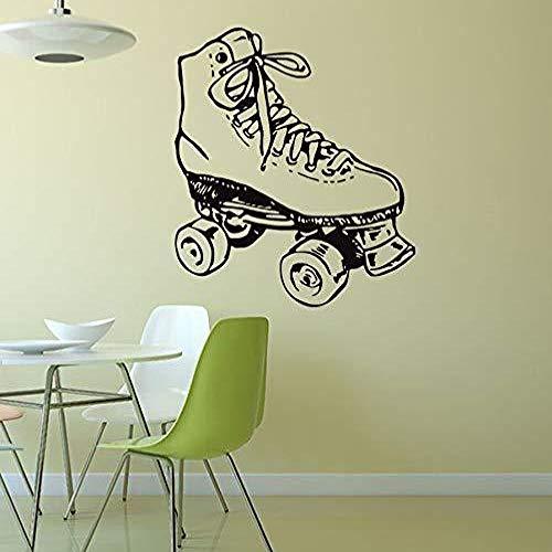JXMN Kreative Rollschuhe Skating Schuhe Muster geschnitzt abnehmbare Selbstklebende Wandaufkleber können 49x57cm angepasst Werden
