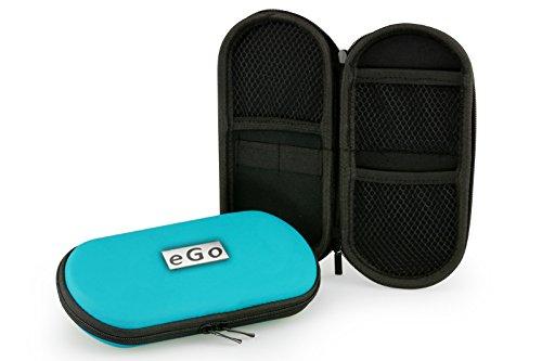 Aufbewahrungs-Etui Ego für E-Zigaretten und E-Shishas ideal als Tasche Hülle Bag Case zum Schutz oder für Liquids und Zubehör Cyan Hellblau (Deutsche Zigaretten-etui)