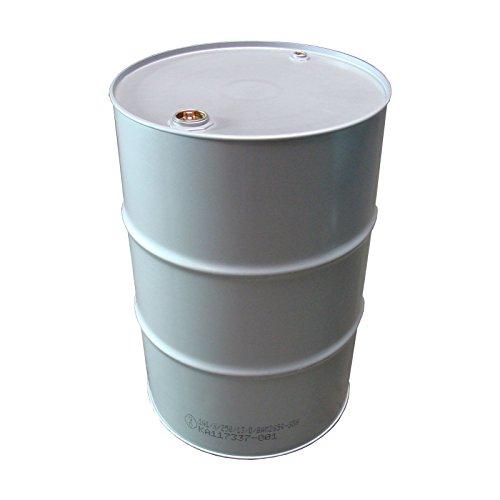 Fass Fusto di latta, in acciaio, barile per petrolio, 216 litri, colore: argento