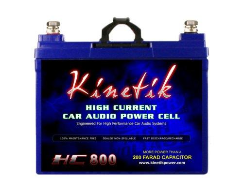 Kinetik HC800Blu 800W 12V High Current AGM Auto Audio Akku Power Zelle (Blu Serie) -
