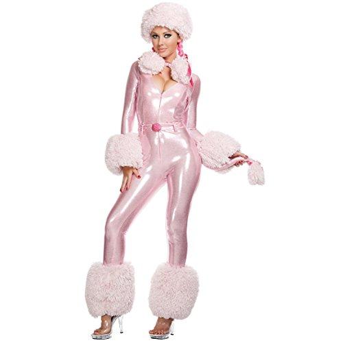 Der reizvollen rosa Pudel-Kostüm (32-34) (Pudel Adult Kostüme)
