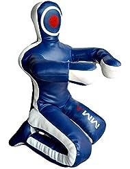 """Celebrita MMA Judo Bolsa de boxeo Grappling Dummy - la posición sentada manos delanteras MMA382 Leather - Blue 70"""" Up to 55kg/121 lb"""