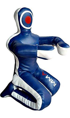 Celebrita MMA Judo Punching Bag Grappling Dummy - posizione seduta mani anteriori MMA382 Leather - Blue 70' Up to 55kg/121 lb