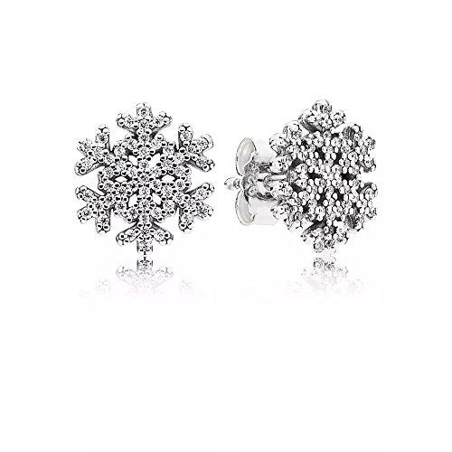 Stonebeads orecchini a forma di cristallo di ghiaccio in argento sterling 925