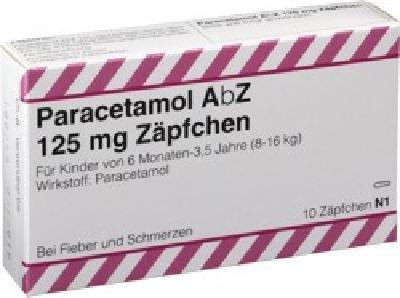 Paracetamol AbZ 125mg 10 stk