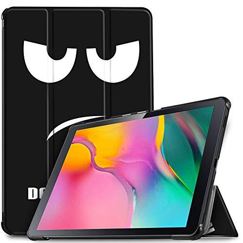 IVSO Funda Carcasa para Samsung Galaxy Tab A T510/T515 10.1 2019, Slim PU Protectora Carcasa Cover para Samsung Galaxy Tab A 10.1 T510/T515 2019, Soot Eye