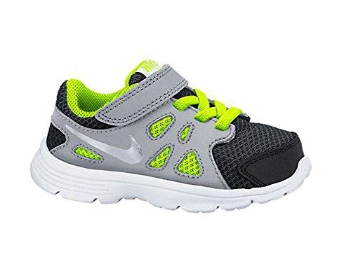 Nike Revolution 2 Tdv 555084 Baby Jungen Lauflernschuhe Schwarz / Silberfarben / Weiß / Grün (Black / Metallic Silver-Wht-Vlt)