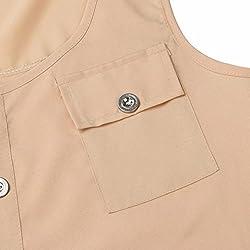 Kanpola Vest Tops Plus Size, Women's Casual T-Shirt Buttons Round Neck Irregular Hem Sleeveless Sexy Loose Tank Top Blouse