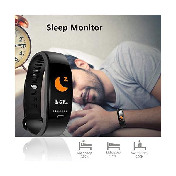 WitMoving Fitness Trackers IP68 - Reloj de Pulsera de Actividad con Contador de calorías y Pasos, podómetro, para niños… 3