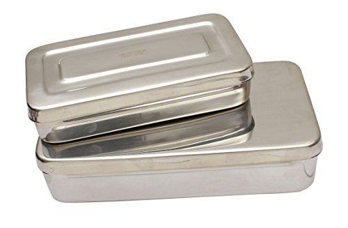 Instrumenten-box Chirurgische (Chirurgische Instrumente Spezialisten Edelstahl Dental Equipment Aufbewahrungsboxen mit Deckel, 300mm x 150mm x 50mm)