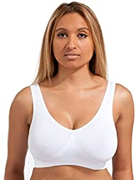 Marielle 4-Pack Bra - The Ultimate Seamless Comfort Bra Womens Sports Bras  Plus Size de37ed4e6