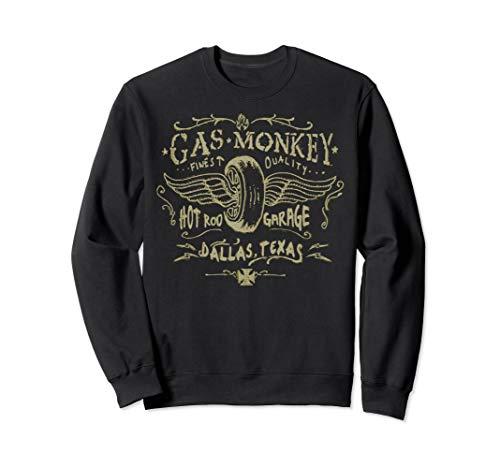 Gas Monkey Garage Winged Tire Pastel Sketch Sweatshirt -