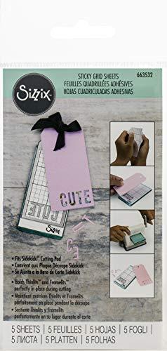 Sizzix 663532 Sidekick Sticky Gitter, 6,3 x 12 cm, 5 Stück -