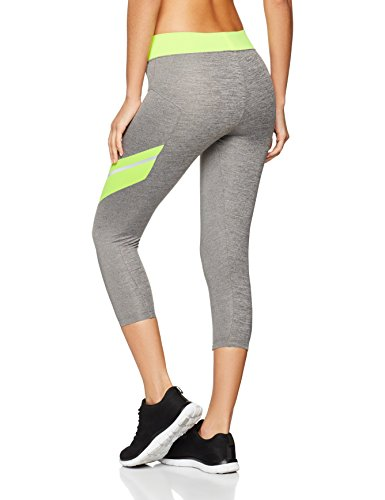 Iris & Lilly Sport Leggings Damen Grau (Grey Marl/lime)