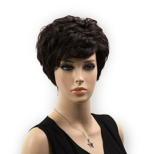 Magideal parrucca da donna capelli corti bionda naturale per cosplay travestimento partito festa