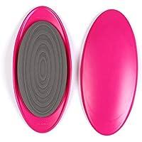KKCD Gliding Discs Yoga 2X Disques de Glissement Double Face - Disques de Glisse de Remise en Forme Slip Pad Entraînement des Muscles abdominaux Entraînement de la Jambe