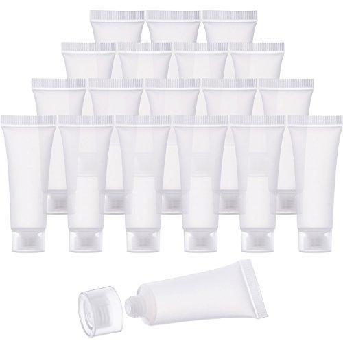 30 Stück 10 ml Leere Tuben Klar Kosmetik Behälter Bachfüllbar Kunststoff Tuben für DIY Lip Gloss Tube