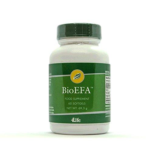 4Life BioEFA - 60 softgel kapseln - ORIGINAL Blend/Mischung - Omega-3- und Omega-6 (Fischöl mit EPA und DHA, Leinöl mit ALA, Borretsch Öl mit (GLA), Färberdistel Öl (CLA) -
