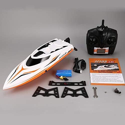 H105 4CH 30km / h RC Boot Hochgeschwindigkeits-Rennboot 180 ° Flip RC Electric Toy RTR Weiß-orange -
