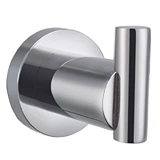 Angle Simple G2101 Stainless Steel Channel Single Robe Hook, Polished Steel