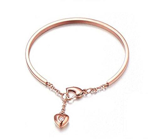 ergoldet Titan Stahl Nagel Armbänder für Frauen Mädchen (f1551) (Nagel Halskette)