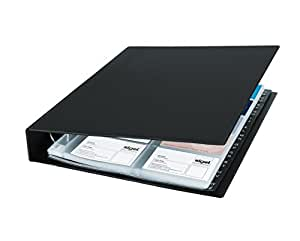 Sigel VZ301 Porte-cartes de visite à 2 rangs,  jusqu'à 400 cartes, extansible, 9 x 5,8 cm, noir