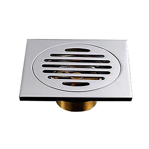 Porzellan quadratisch Badezimmer Bodenablauf Trap Dusche Abwasser Haar Sieb 10x 10cm - Porzellan-panel