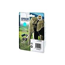 Epson 24 Serie Elefante, Cartuccia Originale Getto d'Inchiostro Claria Photo HD, Formato XL, Ciano, con Amazon Dash Replenishment Ready