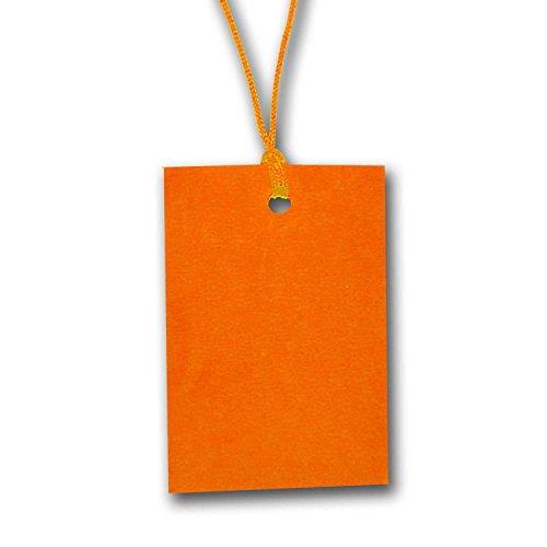 500 x Orange Zeichenfolge Preisschild Etikett Karte Hang Tag 60mm x 40mm