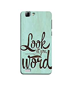 PrintVisa Designer Back Case Cover for Vivo X3S (Quote Love Heart Messages Crazy Express Sorry )