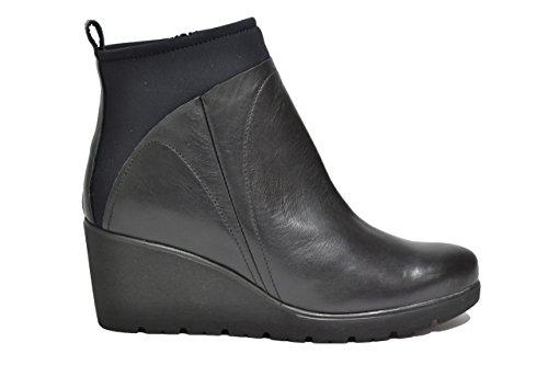 Melluso Tronchetti zeppa nero scarpe donna R1031 36