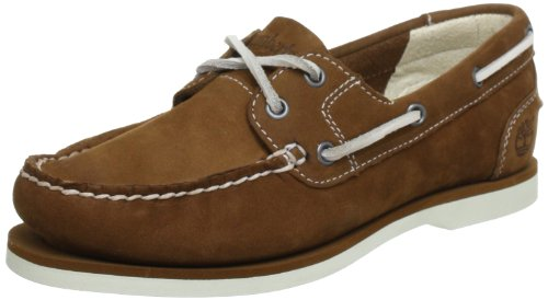 Timberland Classic Unlined, Scarpe da Barca Donna, Marrone (Medium Brown Barefoot Buffed), 37 EU