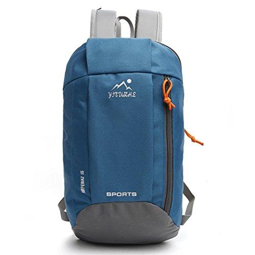 emansmoer Wasserdicht Outdoor Sport Camping Wandern Reise Rucksack Casual Daypack Kinder Schulranzen Tasche (Lila) Blau