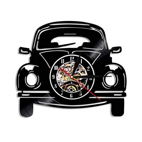 HHYXIN Schallplatte Wanduhr Auto Design Vintage Schallplatte Wanduhr Automotive Led-Licht Modernes Design Dekoration Geschenk Für Fahrer,12 Zoll -