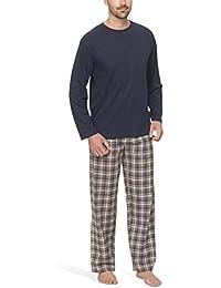 Herren Schlafanzug mit Flanellhose - Moonline