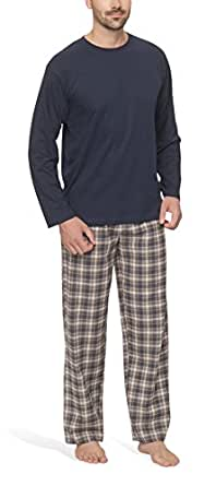 pyjama homme avec un pantalon en flanelle moonline v tements et accessoires. Black Bedroom Furniture Sets. Home Design Ideas
